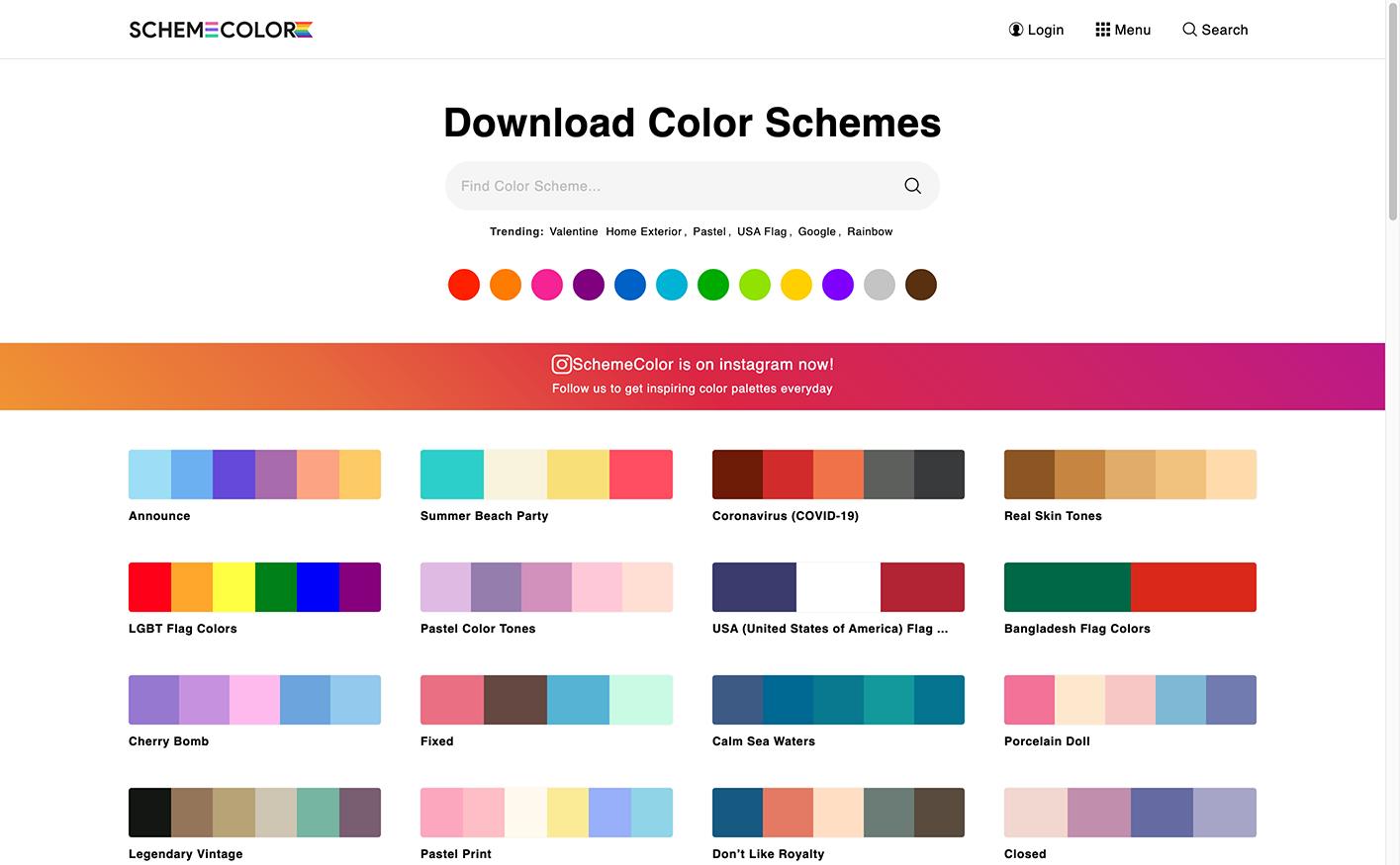 カラーパレット配布サイト「SchemeColor」